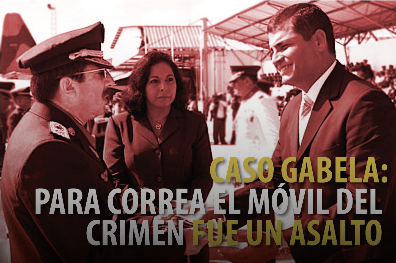 CASO GABELA: PARA CORREA EL MÓVIL DEL CRIMEN FUE UN ASALTO