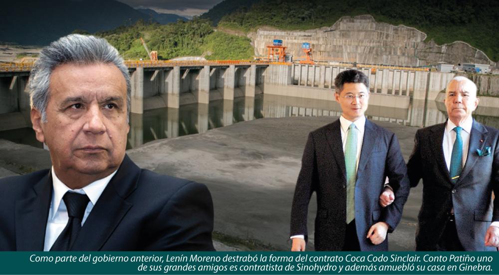 COCA CODO SINCLAIR Y LA HUELLA DEL PRESIDENTE MORENO
