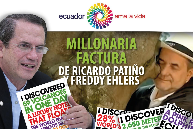 MILLONARIA FACTURA DE RICARDO PATIÑO Y FREDDY EHLERS
