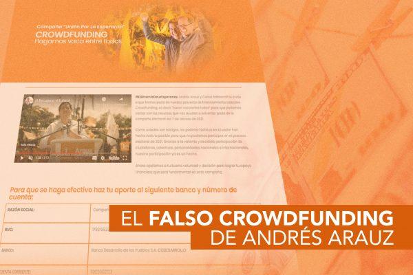 EL FALSO CROWDFUNDING DE ANDRÉS ARAUZ