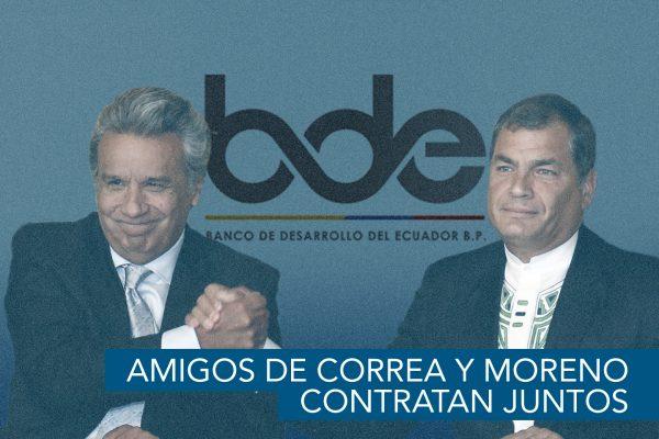AMIGOS DE CORREA Y MORENO CONTRATAN JUNTOS