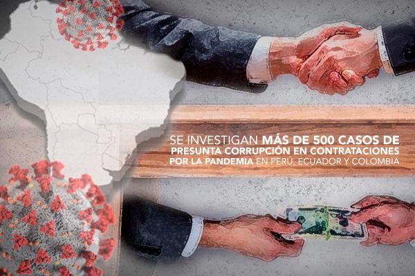 SE INVESTIGAN MÁS DE 500 CASOS DE PRESUNTA CORRUPCIÓN EN CONTRATACIONES POR LA PANDEMIA EN PERÚ, ECUADOR Y COLOMBIA